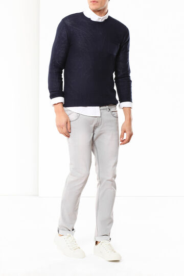 Jumper with pocket, Navy Blue, hi-res