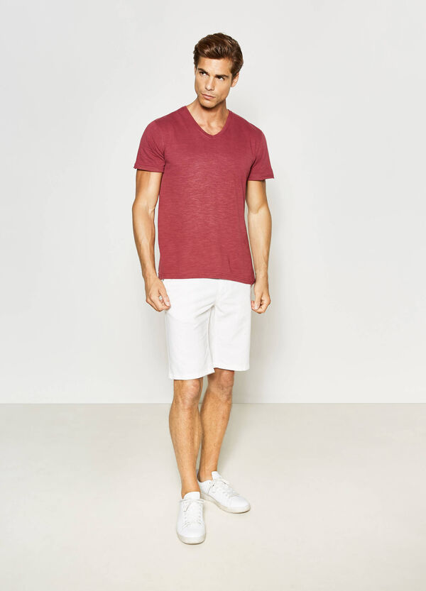 T-shirt with raw edged sleeves | OVS