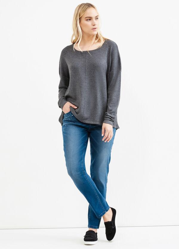Pullover tricot lavorato a costina Curvy | OVS