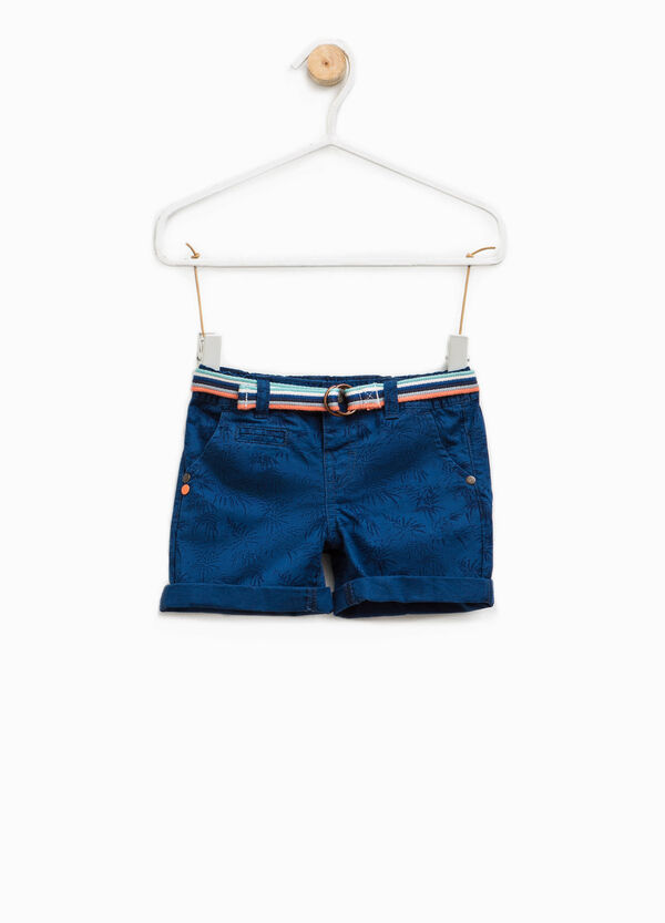 Bermuda shorts with belt and all-over print | OVS