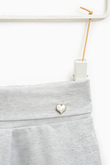 Stretch joggers with pendant, Grey Marl, hi-res