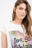 Cotton T-shirt with Maui and Sons print, White, hi-res
