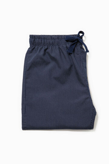 Pyjama trousers with all-over print, White/Blue, hi-res