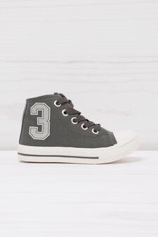 Sneakers alte stampate, Grigio, hi-res