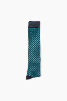 Three-pair pack long socks, Blue Marl, hi-res