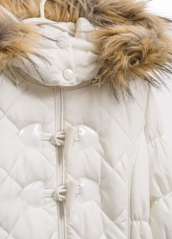 Jacket with hood with fur | OVS