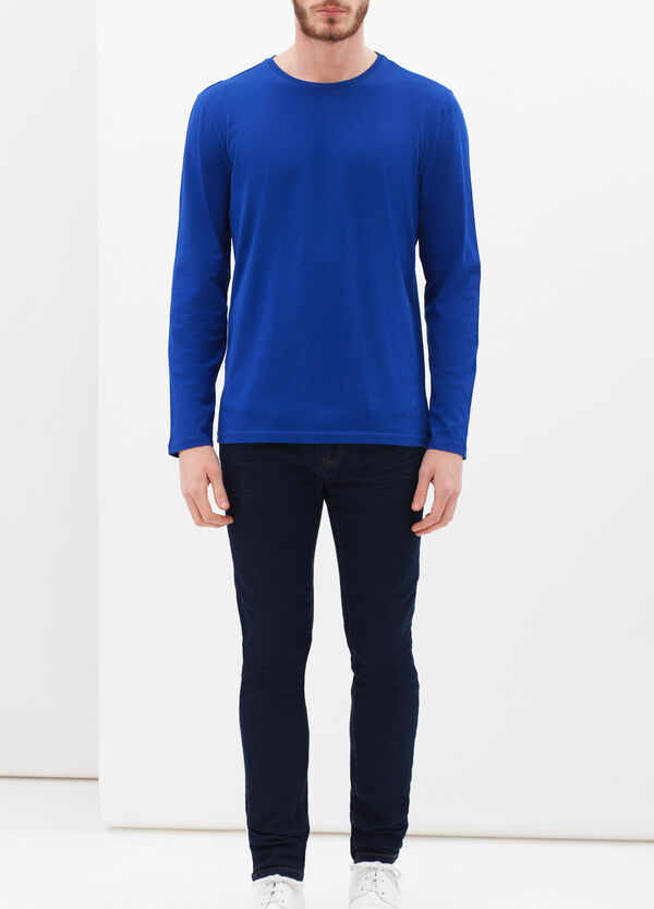 Plain long-sleeved T-shirt | OVS