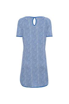 Smart Basic stretch viscose dress, White/Blue, hi-res