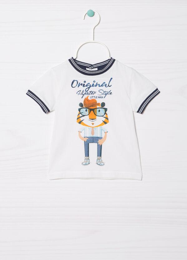 T-shirt puro cotone inserti contrasto | OVS