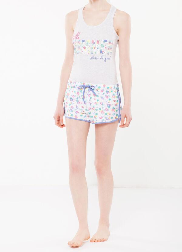 Shorts da notte floreali con spacchetti | OVS