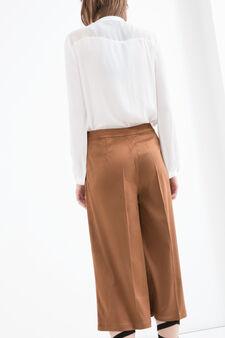 Pantaloni similpelle scamosciata, Marrone, hi-res