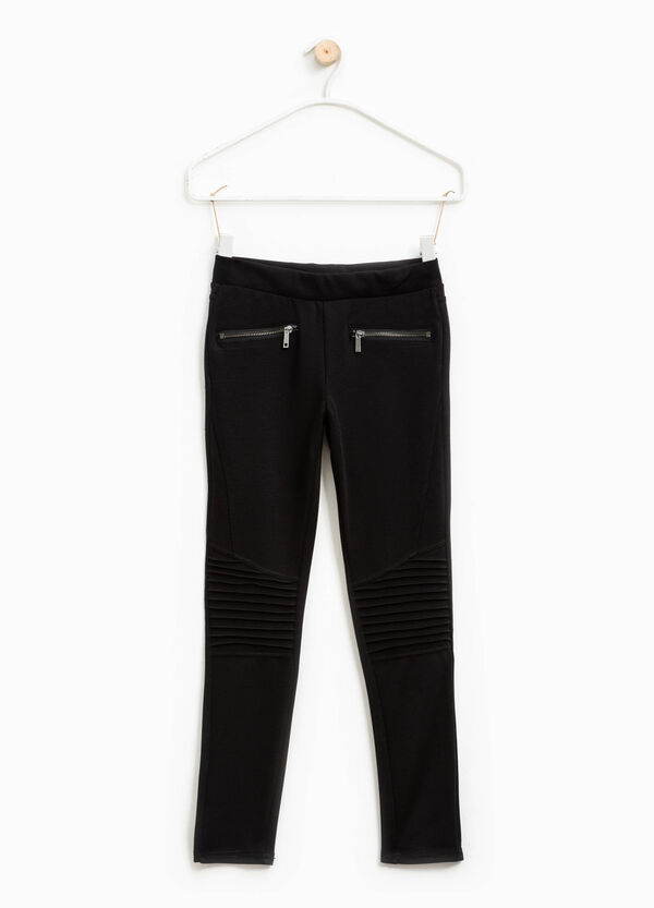 Stretch viscose trousers with pleats | OVS