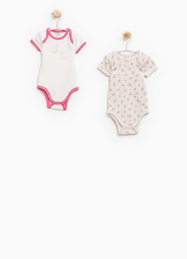 Two-pack bodysuits with flower and Chip 'n' Dale print | OVS