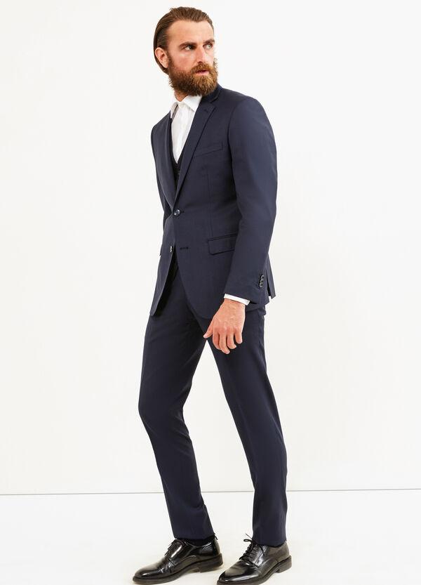Elegant, slim-fit, pure wool suit   OVS
