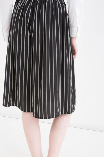 Striped culottes, Black/White, hi-res