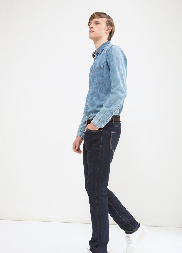Denim shirt with pocket | OVS