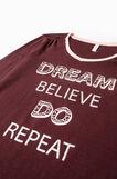 100% cotton printed pyjamas, Chocolate Brown, hi-res