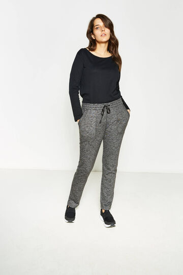 Curvy joggers with pockets, Slate Grey, hi-res