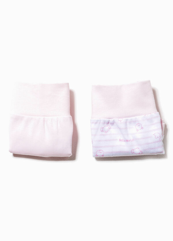 Two-pack solid colour and striped French knickers | OVS