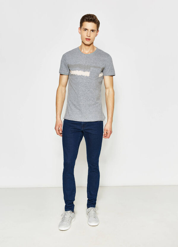 T-shirt with pocket and print   OVS