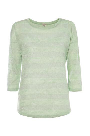T-shirt a righe Smart Basic, Verde, hi-res