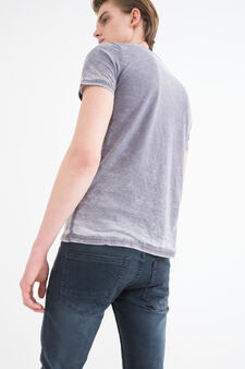 Superhero printed cotton T-shirt, Dark Grey, hi-res