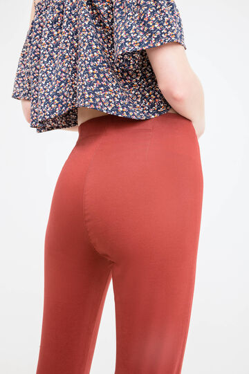 Pantaloni stretch tinta unita, Rosso mattone, hi-res