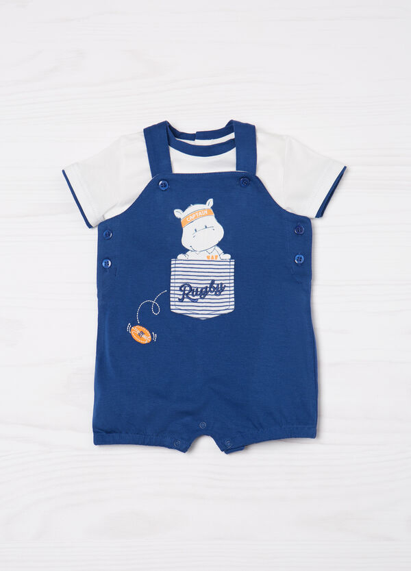 100% cotton outfit with dungarees | OVS
