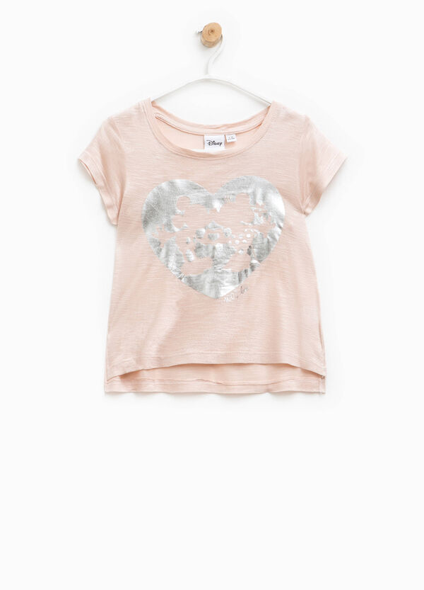 Glitter T-shirt with Mickey and Minnie Mouse | OVS