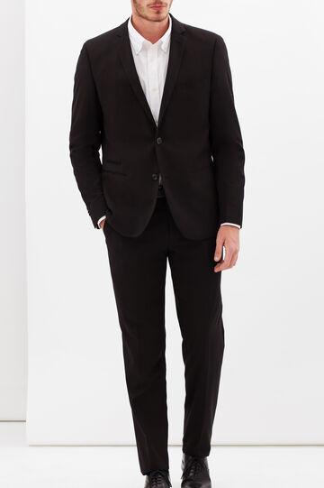Plain stretch jacket, Black, hi-res