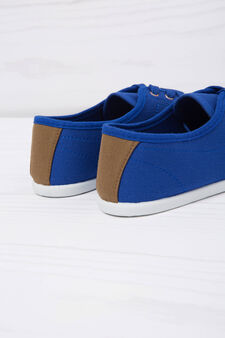 Low sneakers with laces, Denim Blue, hi-res