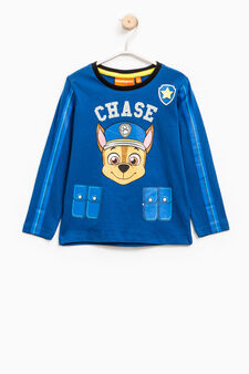 Cotton T-shirt with Paw Patrol print, Royal Blue, hi-res