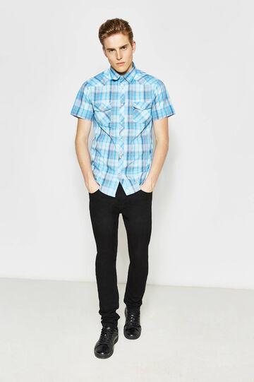 G&H short-sleeved tartan shirt