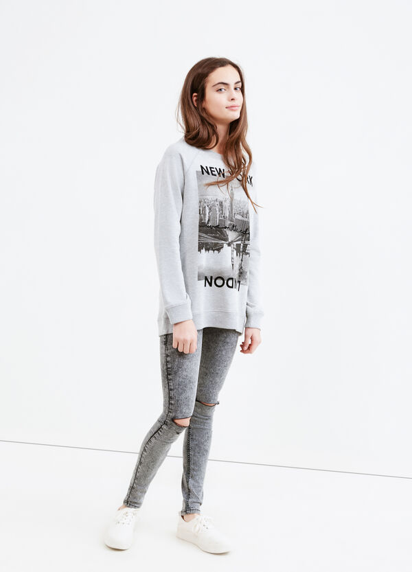 Teen 100% cotton printed sweatshirt | OVS