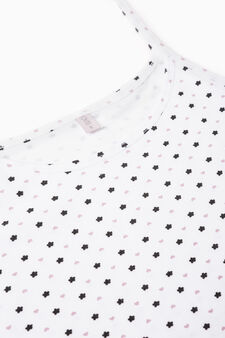 Two-pack plain and printed tops, White, hi-res