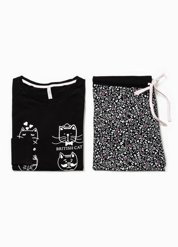 Pyjamas with print and heart pattern | OVS