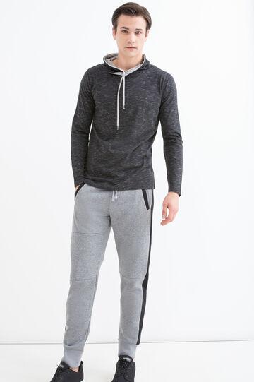 100% cotton sweatshirt with high neck, Black, hi-res