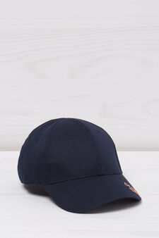 Embroidered cotton baseball cap, Navy Blue, hi-res