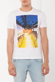 T-shirt a maniche corte, Bianco stampa 3, hi-res