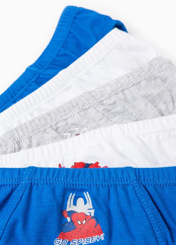 Pack de cinco calzoncillos en color liso y con Spider Man | OVS