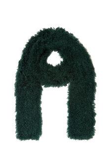 Faux fur scarf, Emerald Green, hi-res