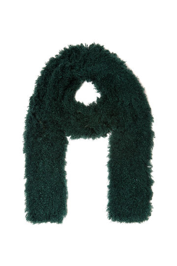 Faux fur scarf, Emerald Green, hi-res