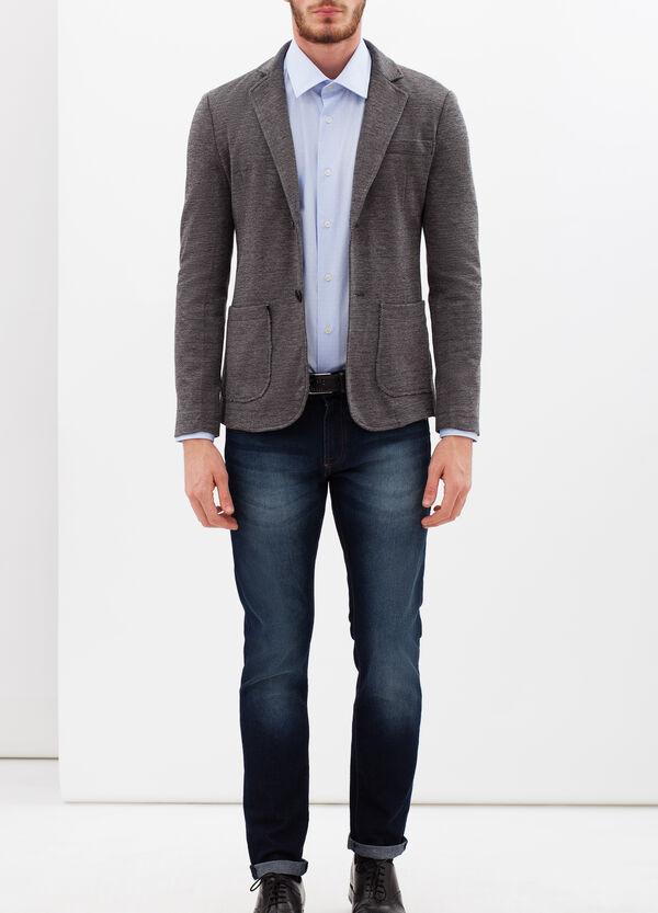 Slim fit plumetis shirt | OVS