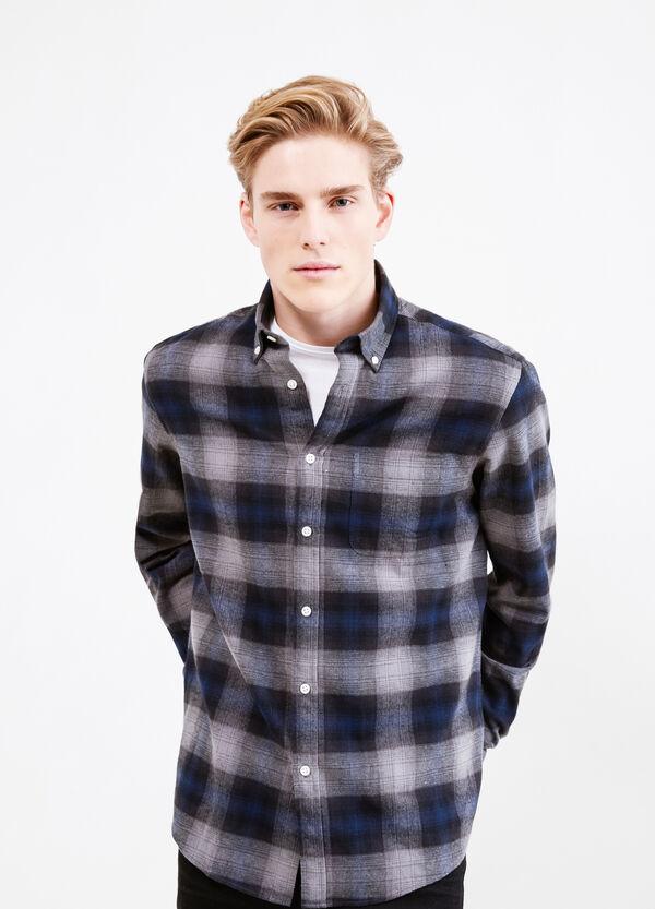Camicia casual cotone fantasia tartan | OVS