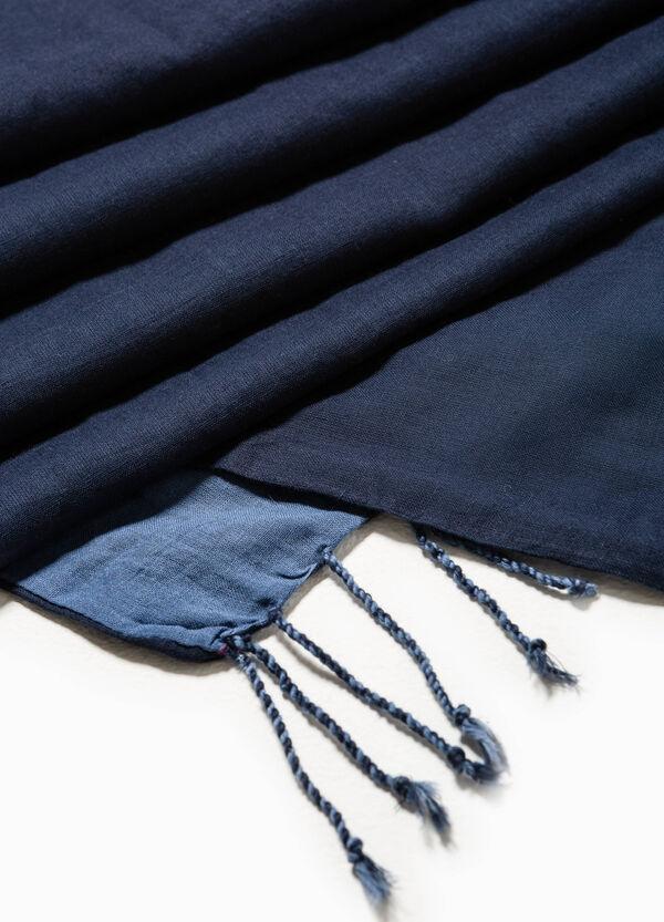 Bufanda en algodón 100% con flecos | OVS