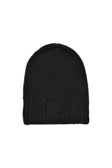 Cappello a cuffia tricot, Nero, hi-res