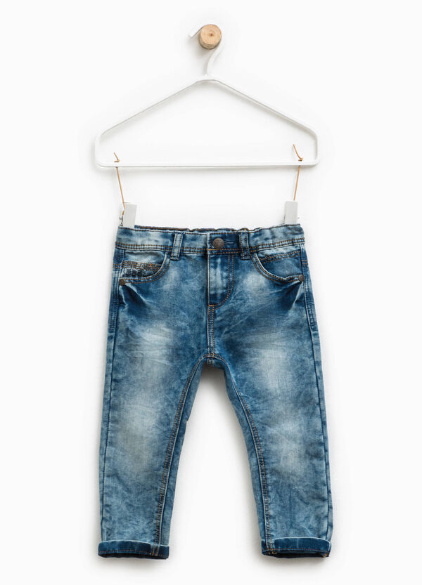 Misdyed-effect jeans with turn-ups | OVS