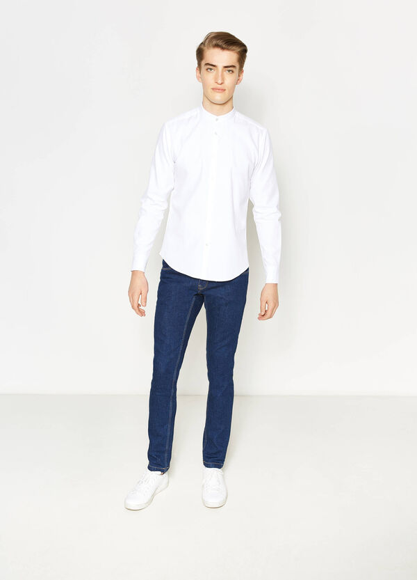 Casual cotton shirt with mandarin collar | OVS