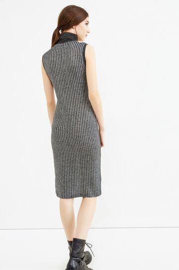 Sleeveless tube dress with lurex, Grey/Silver, hi-res