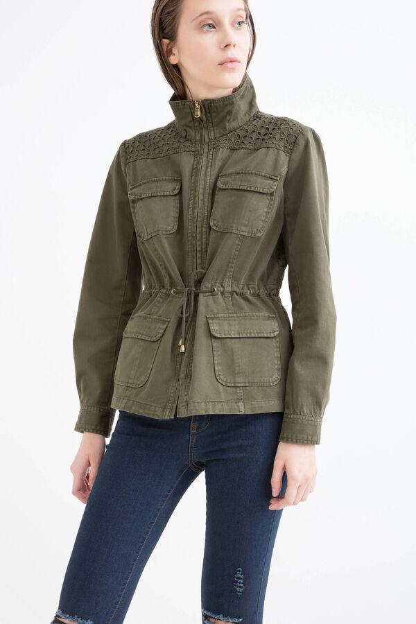 Solid colour 100% cotton jacket | OVS